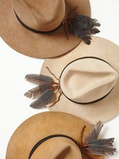 quinea hen feather hat adornments Boho Hat 4afe74780bf