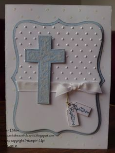 baptism decorations   ve had a run of Baptism cards lately, but this time I had to make ...