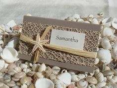 Beach Wedding DIY Place Card Kit ~ Urban Starfish NATURAL ~ 25 pcs