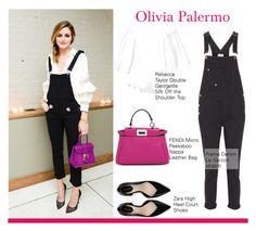 """Olivia Palermo"" by selangel on Polyvore featuring Rebecca Taylor, Frame Denim, Fendi, Zara, OliviaPalermo, topset, BestLook, populer and trendset"