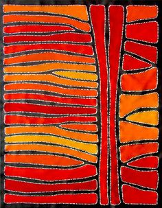 Australian aboroginal art by Sally Clark. Love its vibrancy and love her work!