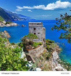 The Castle of Monterosso (or Castello di Monterosso), Italy - This ancient castle is one of the attraction of this lovely Cinque Terre village. Overlooking the sea, it divides the ancient and the modern part of the village.