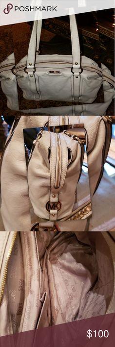 efe5d8b54c3b White Michael Kors handbag Minor blemishes on edges shown in pictures  Michael Kors Bags Hobos Handbags. Poshmark