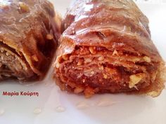 Μπακλαβαδάκια ολικής με στεβια Stevia Recipes, Sugar Free Recipes, Lasagna, Free Food, Deserts, Sweets, Beef, Vegan, Breakfast