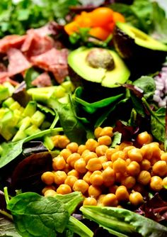 Chop Chop Salad with Garbanzo Beans | ReluctantEntertainer.com