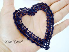 5 pcs Heart Hollow shaped Applique by XadeBorealSupplies on Etsy, $4.00