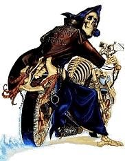 Death from terry pratchetts discworld series, riding the motorbike built by the librarian in Soul Music Random picture thread.