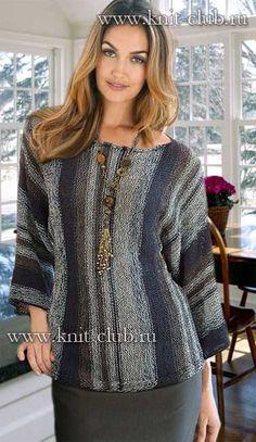 Вязание спицами модного пуловера для женщин. Новые модели 2016