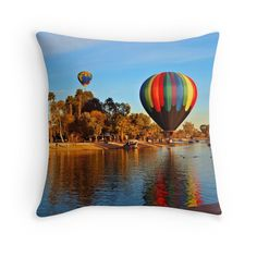 Balloon Reflection Throw Pillow