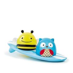 Skip Hop Zoo light up surfers, adorable character bath toy. New and innovative Skip Hop Zoo light-up surfers bath toys are sure to be a hit with your little girl or boy. It include the function of glowing when they touch water. Owl , bee and the surfboard floats on water. Skip Hop Zoo light up surfers…