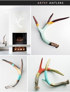 I would love some artsy antlers by Cassandra Smith