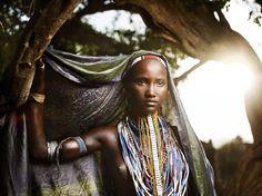 Beautiful African woman.