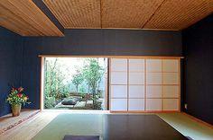和室と庭 Japanese Bath, Japanese Modern, Japanese Interior, Japanese House, Interior Garden, Interior Design, Washitsu, Tatami Room, Asian House
