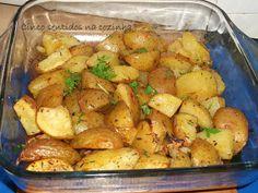Cinco sentidos na cozinha: Batatas assadas no forno com ervas aromáticas