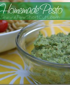 HOW TO: homemade pesto