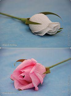 Роза из бумаги для букета из конфет. Мастер-класс.   Конфетный рай