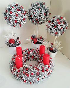 "51 Likes, 4 Comments - Monta Gude (@beautyshopbymonta) on Instagram: ""#pinecone #wreath #christmas#christmaswreath #handmade#naturalpinecones #red#christmastabledecor…"""