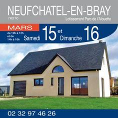 Venez visiter cette maison de 120 m² habitable avec garage comprenant 3 chambres, bureau, 2 salles de bains à NEUFCHATEL-EN-BRAY (76270) - Lotissement Parc de l'Alouette les 15 et 16 Mars de 10h à 12h et de 14h à 18h.  Plus de renseignements par téléphone au 02.32.97.46.26