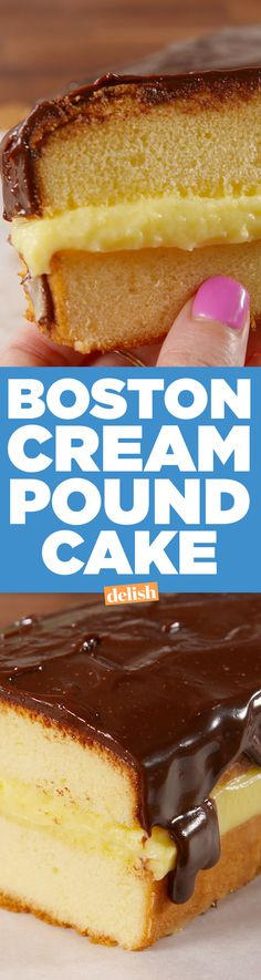 Boston Cream Pound Cake Is So Much Better Than Boston Cream Pie  - Delish.com