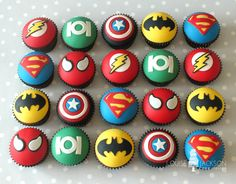 Image result for superhero cupcakes