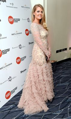 Lady Kitty Spencer stuns at Downton Abbey ball