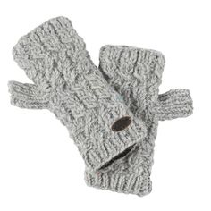 Hand Knit 100% Wool Fingerless Mittens, Nepal Mika Gloves - Turtle Fur   Turtle Fur®