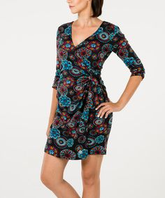 Another great find on #zulily! Black Geometric Jaya Dress #zulilyfinds