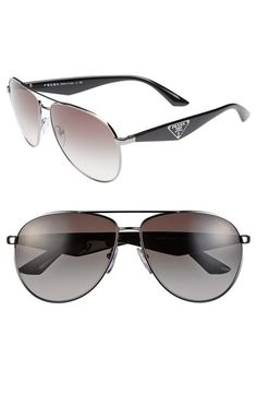 Prada 60mm Aviator Sunglasses available at #Nordstrom
