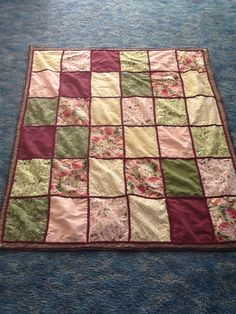 Patch Happy Quilt with chenille