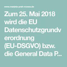 Zum 25. Mai 2018 wird die EU Datenschutzgrundverordnung (EU-DSGVO) bzw. die General Data Protection Regulation (GDPR), wirksam und wurde bereits am 25. Januar 2012, als Teil der EU Datenschutzreform, durch die Europäische Kommission, vorgestellt.Die DSGVO wurde am 14. April 2016