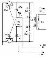 50-150 Watts Power Inverter Circuit using 2N3055_Circuit
