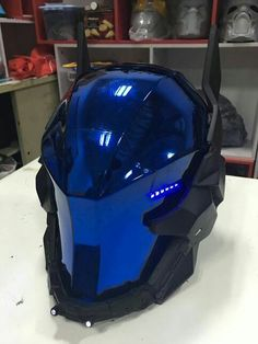 Futuristic Helmets, Survival and Tactical Gears That I would.-Futuristic Helmets, Survival and Tactical Gears That I would buy Now! Ironman decided he liked blue better than red - Cosplay Helmet, Helmet Armor, Knights Helmet, Cosplay Armor, Futuristic Helmet, Futuristic Armour, Custom Motorcycle Helmets, Custom Helmets, Batman Motorcycle Helmet