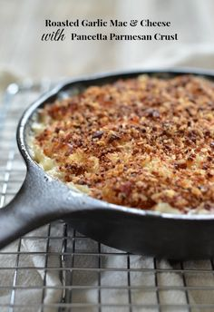 A stove top recipe for Roasted Garlic Macaroni & Cheese with roasted garlic. Amazing recipe! www.mountainmamacooks.com