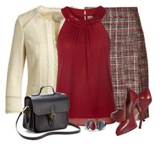 """""""Tweed"""" by daiscat ❤ liked on Polyvore featuring Akris, Joie, Vero Moda, David Yurman and The Cambridge Satchel Company"""