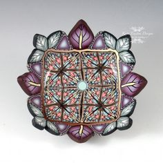 Polymer Clay Ring Bowl Gray, Brown, and Purple by Kate Tracton Designs, $34.00