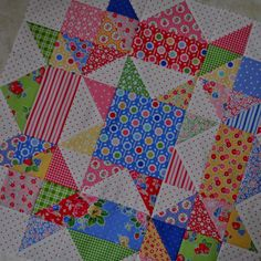 Swoon quilt block  Great way to get rid of scraps