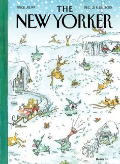 "This week's cover, ""Holiday Spirit,"" by the artist George Booth. See more of Booth's seasonal covers."