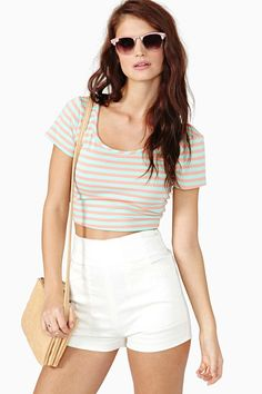 Candy Stripe Crop Top