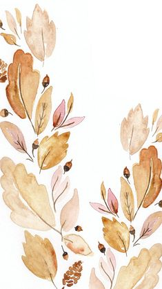 September Digital Watercolor Wallpaper