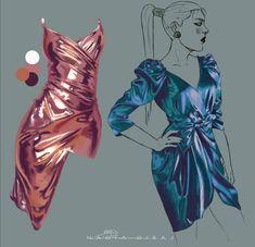 Digital Painting Tutorials, Digital Art Tutorial, Art Tutorials, Art Sketches, Art Drawings, Fabric Drawing, Poses References, Fashion Design Drawings, Art Reference Poses