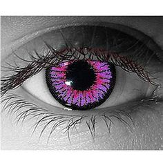 I found 'Impressions Violet Color Contact Lens' on Wish, check it out! Cool Contacts, Colored Eye Contacts, Cosmetic Contact Lenses, Soft Contact Lenses, Change Your Eye Color, Halloween Contacts, Crazy Eyes, Gorgeous Eyes, Eye Art