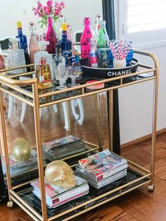 The Trendy Sparrow: Girly and Chic Bar Carts