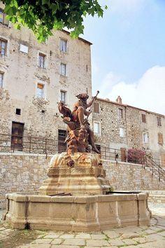 Neptune bravant les eaux... de la fontaine   Neptune braving the waters... of the fountain - Ghisoni   Corse   France