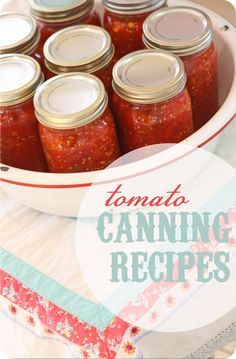 Recipes for canning tomatoes, stewed tomatoes, pizza sauce, spaghetti sauce, salsa.used the Pizza Sauce and Spaghetti Sauce recipes summer were wonderful! Stewed Tomatoes, Canning Tomatoes, Tomato Canning, Canning Salsa, Canning Vegetables, Chutney, Canning Tips, Canning Recipes, Bath Recipes