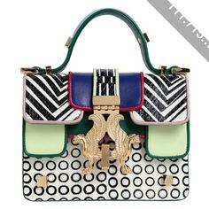 GIANCARLO PETRIGLIA Mini P Bag Color Printed Elaphe Bag