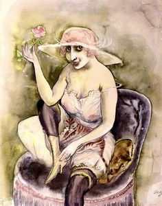 Girl with Rose Otto Dix - 1923
