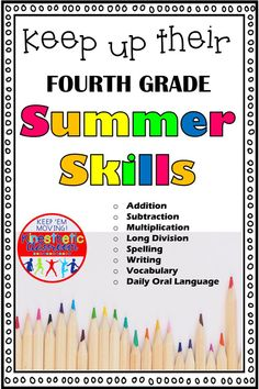 Need a summer packet that will help your students keep up on their fourth grade skills? This simple and predictable daily homework packet include 40 pages of math and language skills. Daily Oral Language, Language Arts, Summer Homework, Fluency Activities, 5th Grade Writing, Love Teacher, Math Skills, Math Lessons, Reading Fluency