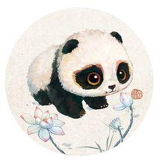 Cute Panda Wallpaper, Bear Wallpaper, Image Panda, Panda Kawaii, Cute Panda Drawing, Panda Painting, Panda Illustration, Doll Drawing, Panda Wallpapers