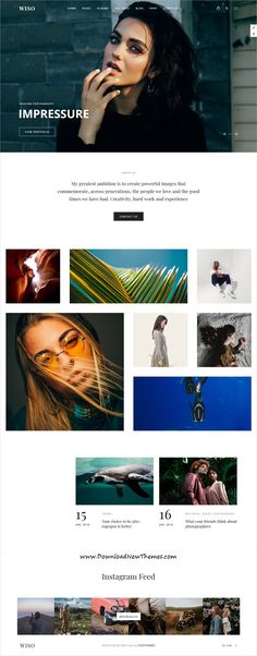 Buy Wiso Photography by fox-themes on ThemeForest. WISO is a gorgeous and creative photography wordpress theme. It includes albums, portfolios, galleries, events, full. Photography Website Design, Photography Themes, Creative Photography, Website Layout, Web Layout, Fashion Web Design, Web Design Services, Design Agency, Responsive Layout