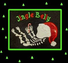 Jingle Belly Maternity Applique - 4 Sizes! | What's New | Machine Embroidery Designs | SWAKembroidery.com Band to Bow